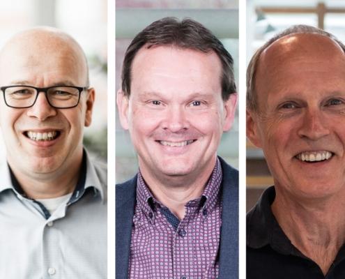 Medewerkers 25 jaar in dienst, Twan, Dick en Ruud