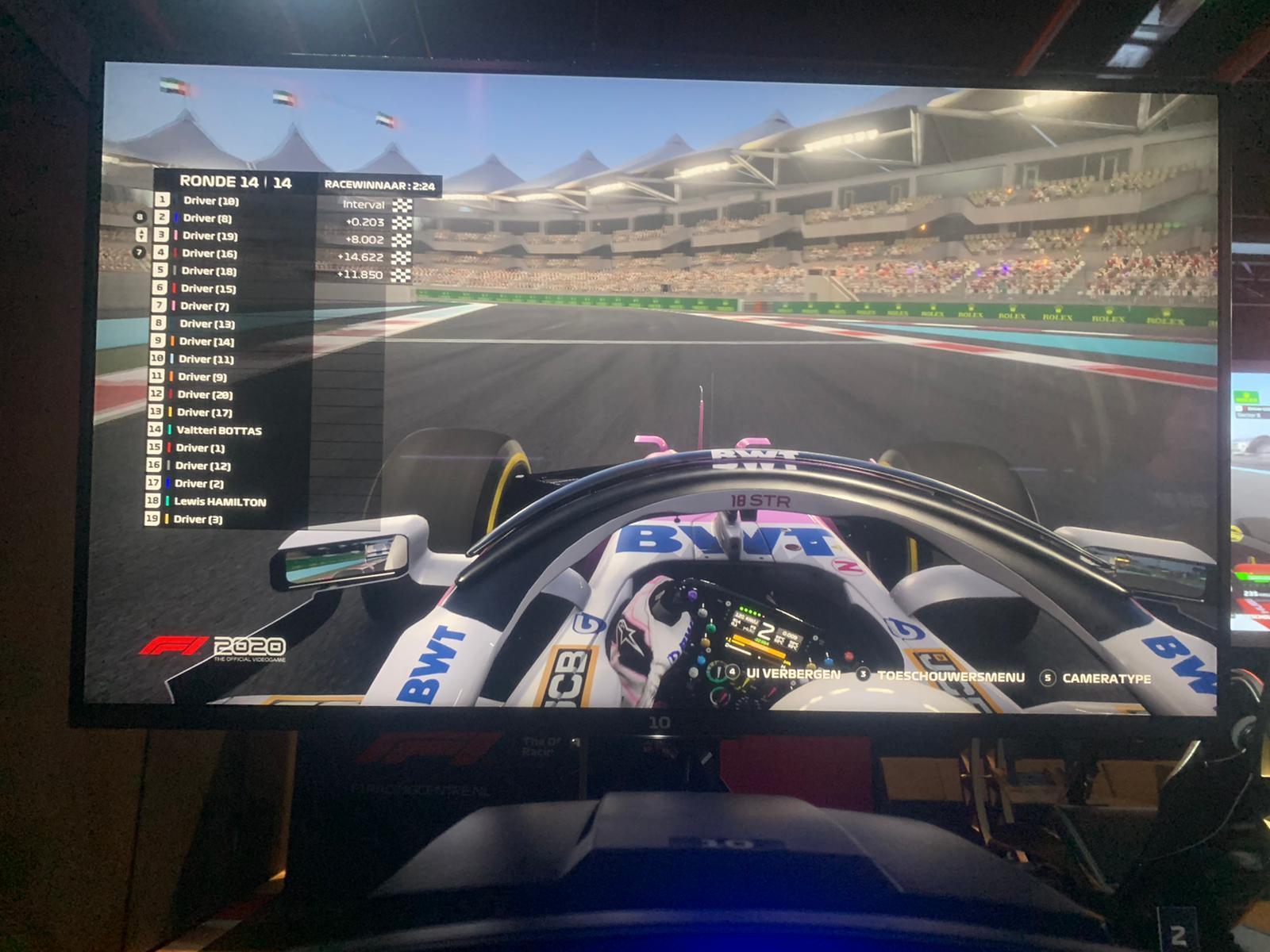 F1 racen met Julius