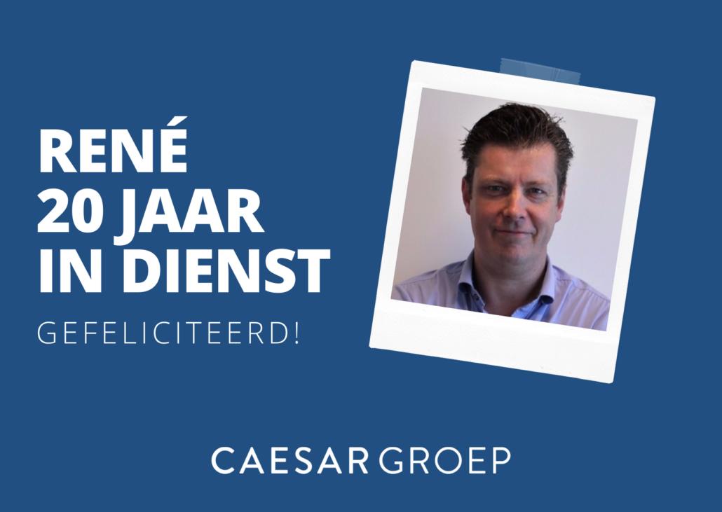 René van Eijdthoven - 20 jaar in dienst bij Caesar