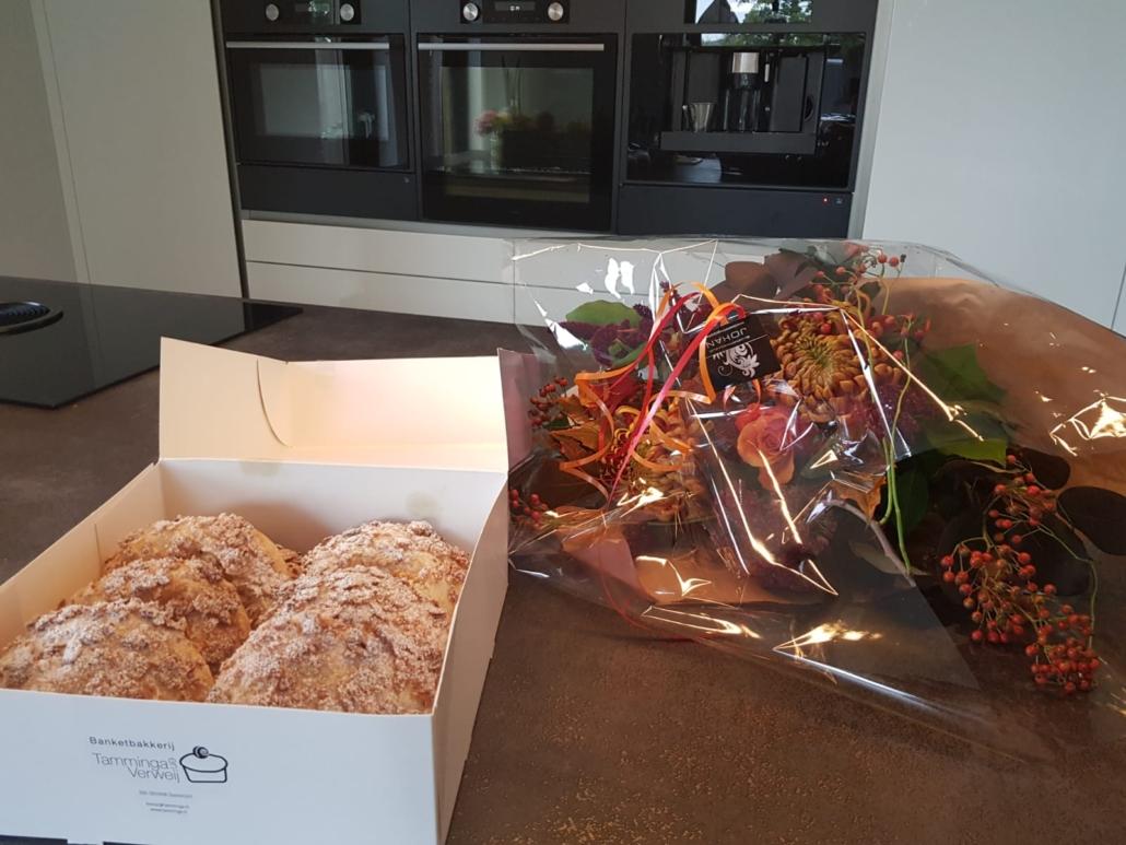Appelkanjers en bloemen voor Rene
