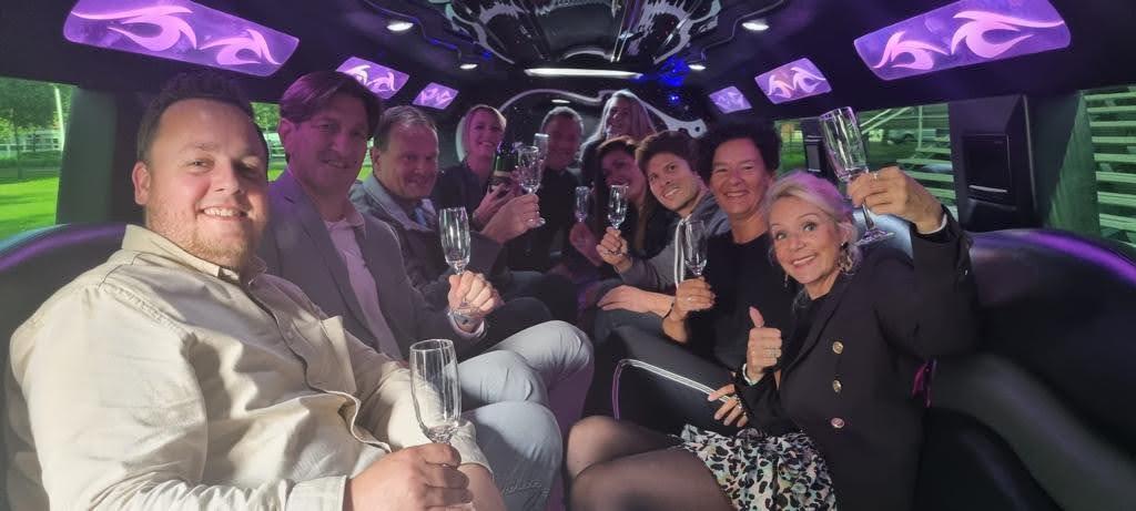 Afscheid Dick - limousine